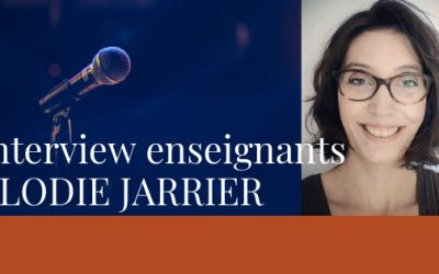 Interview des enseignants – Elodie Jarrier